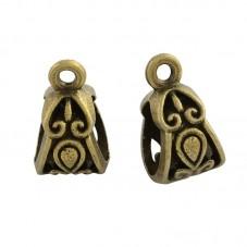 4 Bélières Bronze pour Pendentif 14x8mm pour la Création de Bijoux Fantaisie - DIY
