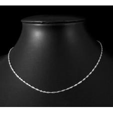 Collier Chaîne fine Argentée 1,5mm pour la Création de Bijoux Fantaisie - DIY
