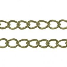 1 Mètre de Chaine à Maille Bronze 5mm pour la Création de Bijoux Fantaisie - DIY