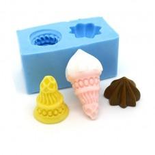 Moule en Silicone Miniature Glace 3D Fimo Résine Gâteau
