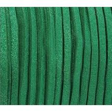 1 Mètre de Cordon Suédine Pailleté Vert Émeraude 3mm pour la Création de Bijoux Fantaisie - DIY