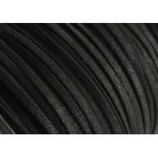 Mètre de Cordon Suédine Pailleté Noir 3mm