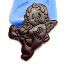 Moule en Silicone Ange Cupidon 4,5x3cm Fimo Résine Gâteau