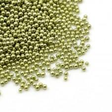 1 Sachet de 10g de Microbilles en Verre 0.8-1mm Kaki pour la Création de Bijoux Fantaisie - DIY