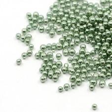 1 Sachet de 10g de Microbilles en Verre 0.8-1mm Vert pour la Création de Bijoux Fantaisie - DIY