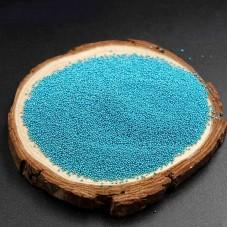 1 Sachet de 10g de Microbilles en Verre 0.4mm Bleu pour la Création de Bijoux Fantaisie - DIY