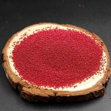 1 Sachet de 10g de Microbilles en Verre 0.4mm Rouge pour la Création de Bijoux Fantaisie - DIY
