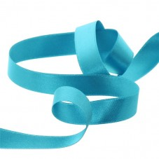 2 Mètres de Ruban Satin Bleu Vert 15mm