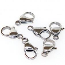 10 Fermoirs Mousqueton Platine 12mm pour Chaine Bijoux DIY pour la Création de Bijoux Fantaisie - DIY