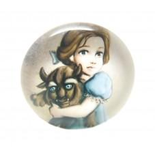 Cabochon en Verre Illustré Princesse 20mm