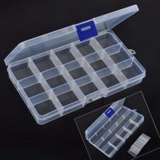 Boîte de Rangement en Plastique pour Perles et Petites Fournitures 18x10.5cm