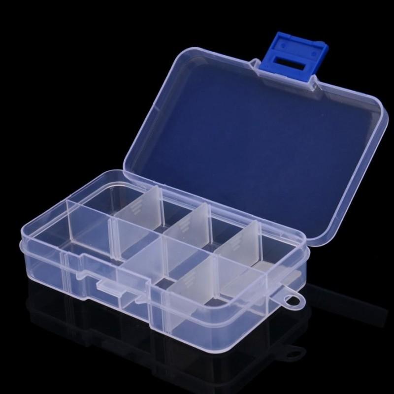 Boîte de Rangement en Plastique pour Perles ou Petites Fournitures 10.5x6.9cm - Fantasyline