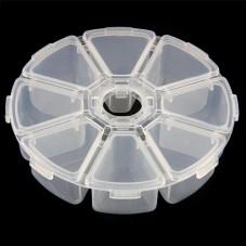 Boîte de Rangement Caroussel en Plastique pour Perles ou Petites Fournitures 10,5cm pour la Création de Bijoux Fantaisie - DIY