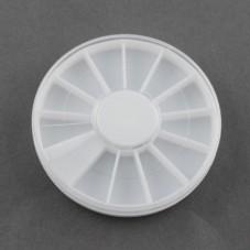 Boîte de Rangement en Plastique pour Strass ou Tranches de Canes 6cm pour la Création de Bijoux Fantaisie - DIY