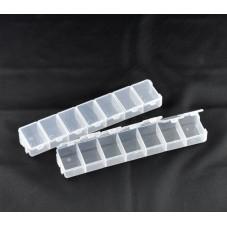 Boîte de Rangement en Plastique pour Perles ou Petites Fournitures 15.5x3.3cm pour la Création de Bijoux Fantaisie - DIY