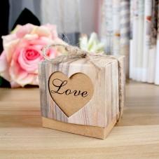 """4 Boîtes Cadeaux Coeur """"Love"""" + Ficelle pour la Création de Bijoux Fantaisie - DIY"""
