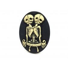Camée Cabochon Squelette Gothique Haute Qualité AAAA+ 30x40mm