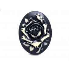 Camée Cabochon Fleur Gothique Haute Qualité AAAA+ 30x40mm
