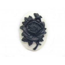 Camée Cabochon Fleur Gothique Haute Qualité AAAA+ 30x40mm pour la Création de Bijoux Fantaisie - DIY