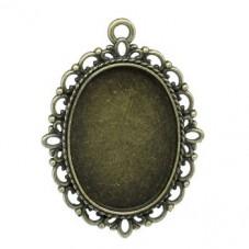 Support Pendentif Bronze pour Cabochon 18x25mm pour la Création de Bijoux Fantaisie - DIY
