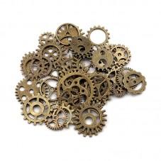 5 Breloques Rouage Engrenage Horlogerie Bronze Thème Alice au Pays des Merveilles Thème Alice au Pays des Merveilles 10-26mm pou
